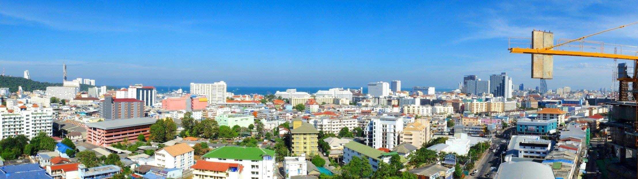 Panorama Pictures from 16th Floor - City Garden Tower Pattaya - www.citygardentower.net
