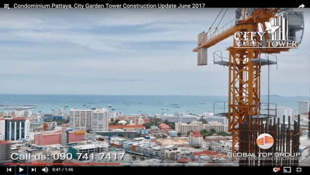 www.citygardentower.net - Rental Apartment at City Garden Tower Pattaya - Video Update - June, 2017