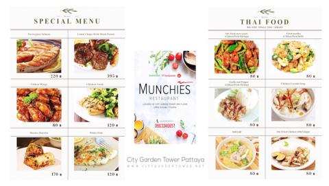 Munchies Cafe & Restaurant @ City Garden Tower in Pattaya - Book Your Short-Term Rental Condo Online - www.citygardentower.net -