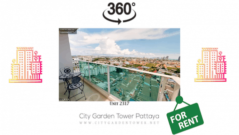 Short-Term Rental Condo in Central Pattaya With Comfort in Mind - Sea View - City View - Mountain View - City Garden Tower 2317 - Book on www.citygardentower.net -