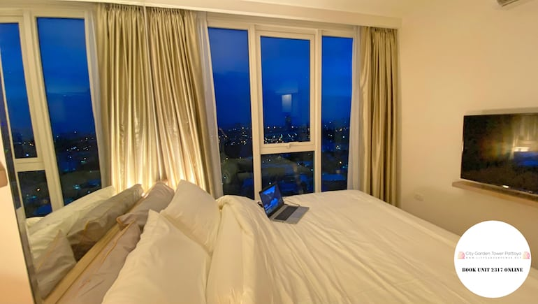 A Very Comfortable Bed - Short-Term Rental Condo in Central Pattaya - City Garden Tower 2317 - Book Your Stay Online - www.citygardentower.net -
