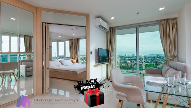 Book A Stay On Black Friday 2020 - City Garden Tower 2317 - Book Online on www.citygardentower.net