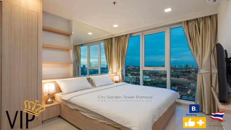 Book With A Preferred PLUS Partner Host - City Garden Tower 2317 - Short-Term Rental in Central Pattaya - Book Online - www.citygardentower.net -