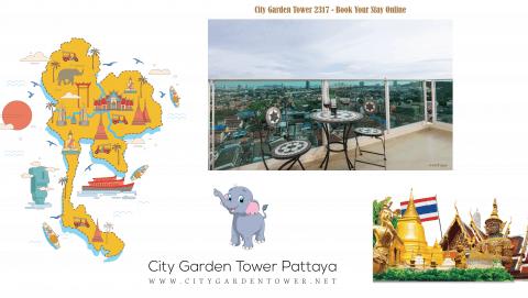 City Garden Tower 2317 Is Gaining Popularity Online - Book Your Short Term Sea View Rental Condo in Pattaya @ City Garden Tower Online - www.citygardentower.net -