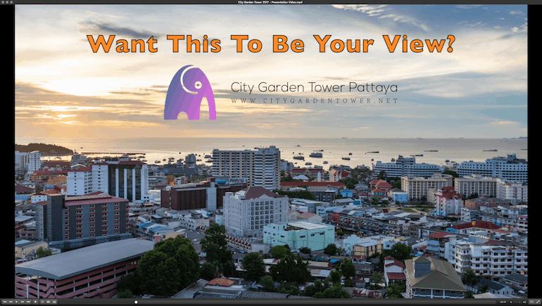 New Presentation Video of City Garden Tower Unit 2317 in Pattaya - Sea View Short-Term Rental Condo Online - www.citygardentower.net -