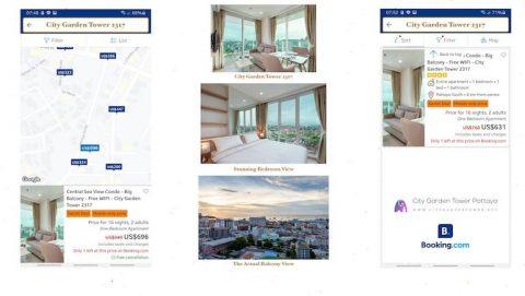 Secret 2021 Promotion on Booking.com - City Garden Tower 2317 - Sea View Short-Term Retal Condo in Central Pattaya - www.citygardentower.net